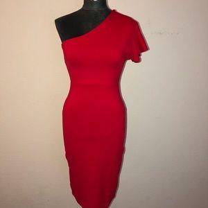 Susana Monaco One-Sleeve Stretch Pencil Dress